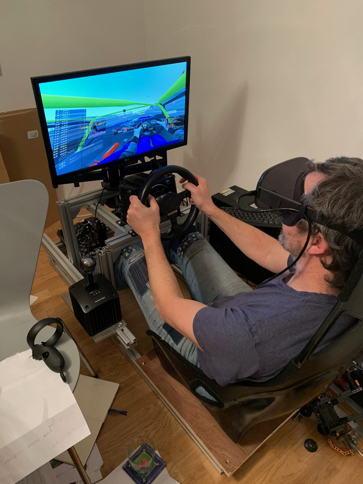 simulator driving